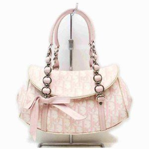 Dior Monogram Trotter Pink Girly Chic Chain Flap